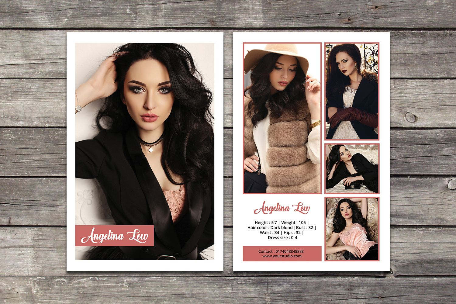 Zed Card Template In 2020 Model Comp Card Card Templates Free Card Template