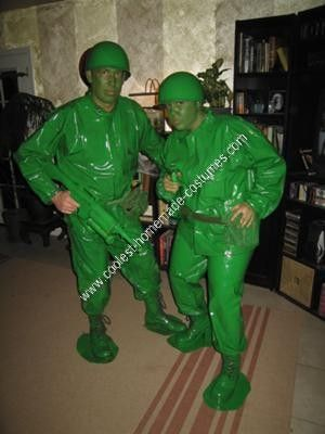 coolest homemade green army men halloween costume idea - Homemade Men Halloween Costumes