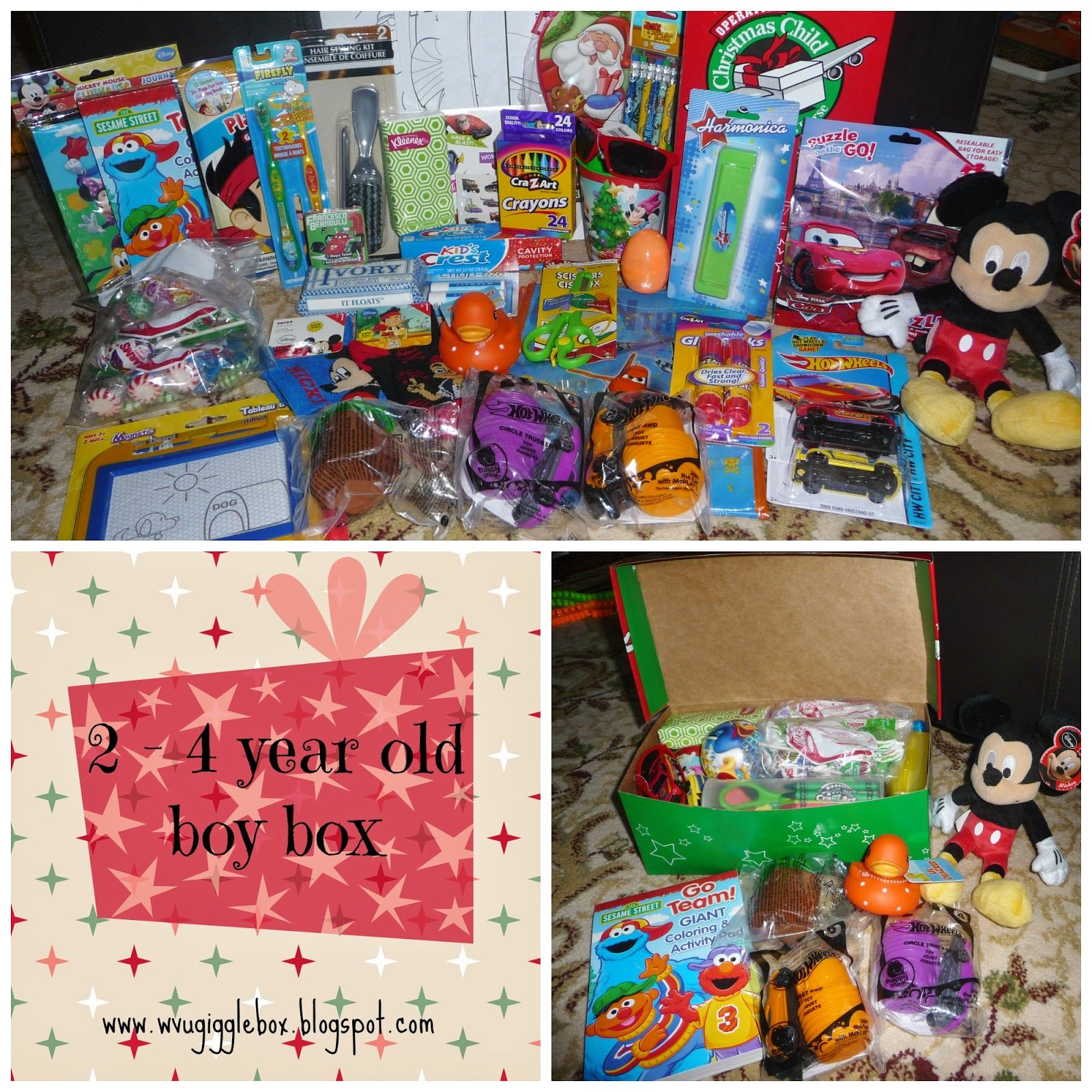Operation Christmas Child 2014 packing a 2 4 year old boy box