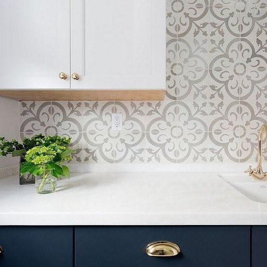 Faux Subway Tile Backsplash Wallpaper Wallpaper Backsplash Kitchen Backsplash Wallpaper Diy Backsplash