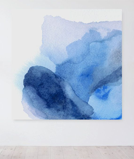 Huge Painting Abstract Print Blue Abstract door LikeWilliamStudio
