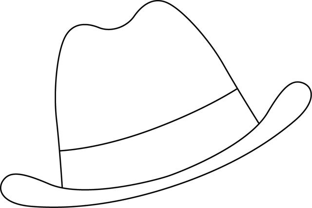 Coloriage A Imprimer Un Chapeau D Homme Chapeau Homme Chapeau Coloriage