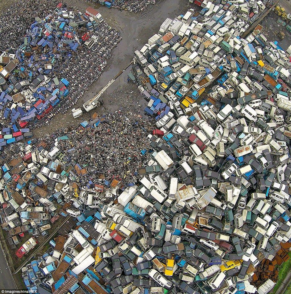 China's Car Graveyard: Millions Of Vehicles Thrown On The
