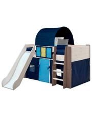 tictactoe mid sleeper bed slide u0026 accessories two tone and