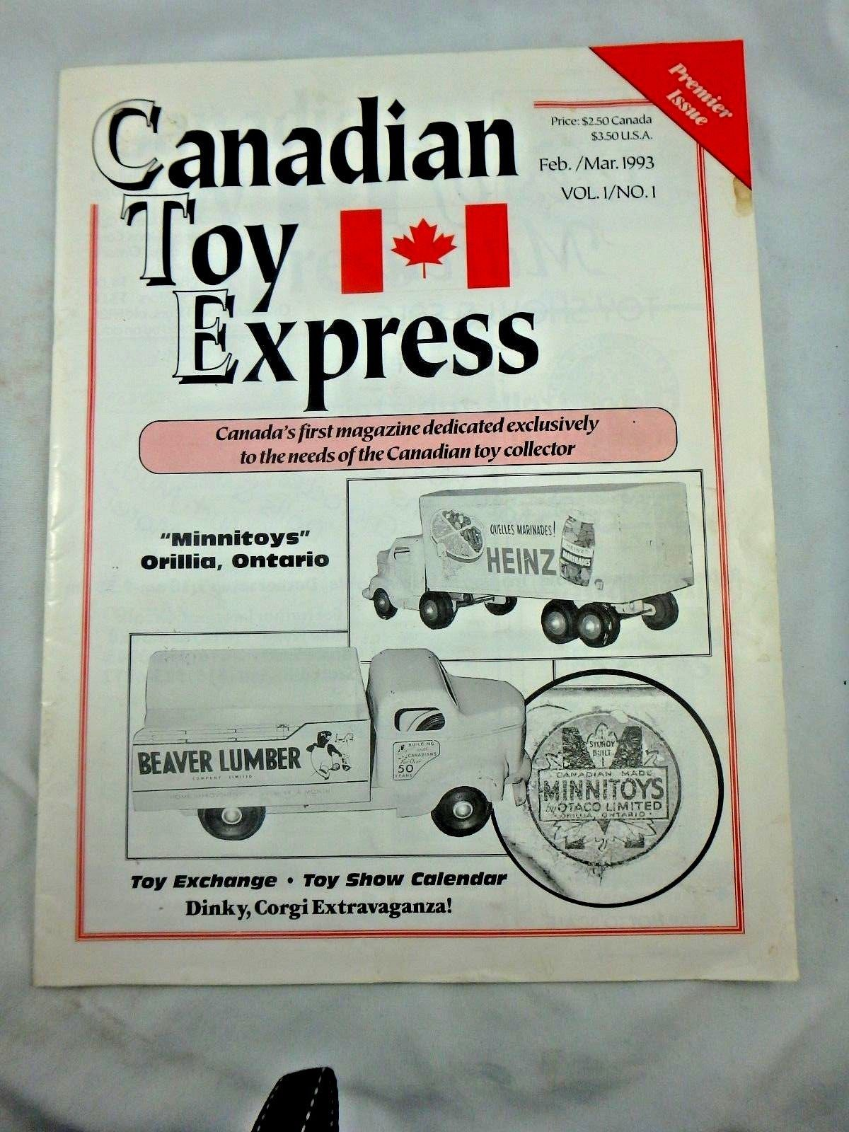 1993 Canadian Toy Express Magazine Vol 1 No 1 Minnitoy Article Ebay Toy Express Expressions Canadian