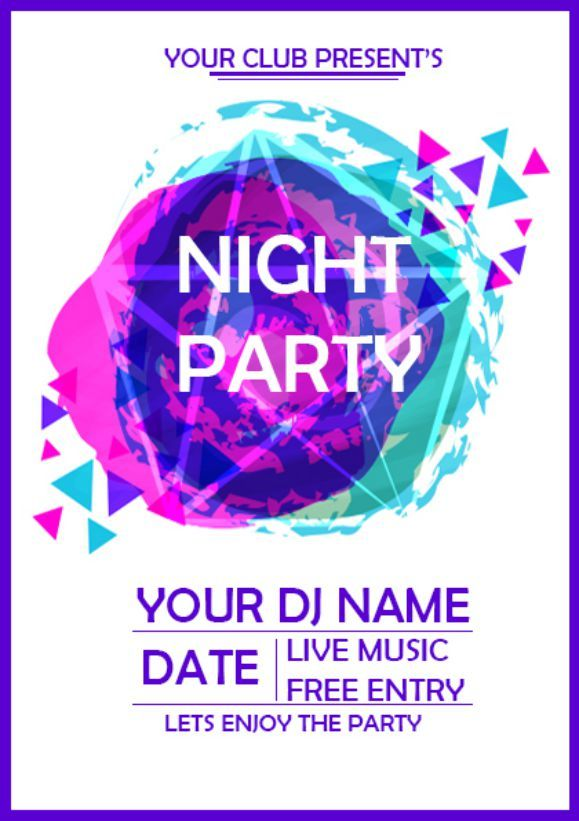 Night Party Coming Soon Flyer Coming soon Flyers Pinterest