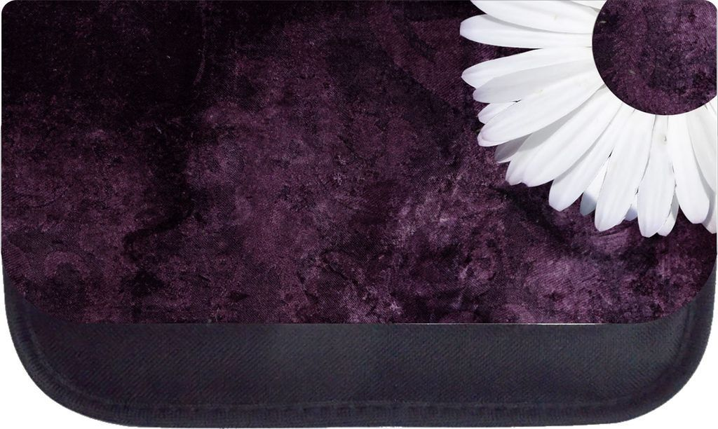 Rosie Parker TM Medium Sized Cosmetic Case-Made in the U.S.A.- White Flower on Purple ** Read more reviews of the product by visiting the link on the image.