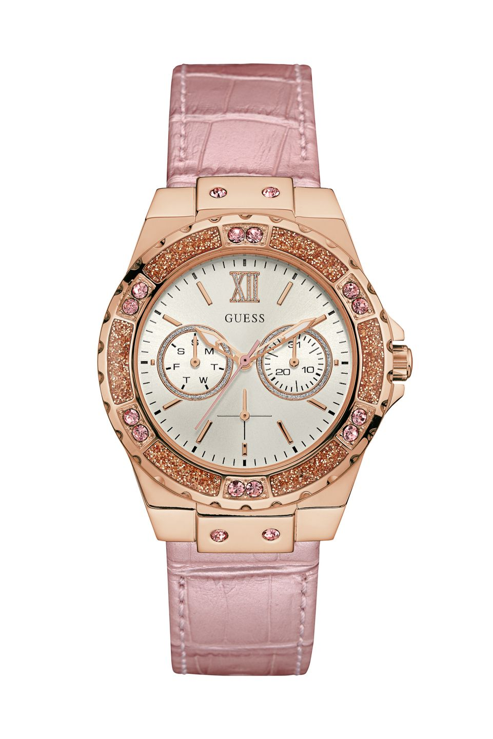 0ed734dcaf72 Pink and Rose Gold-Tone High Style Watch   GUESS.com Accesorios