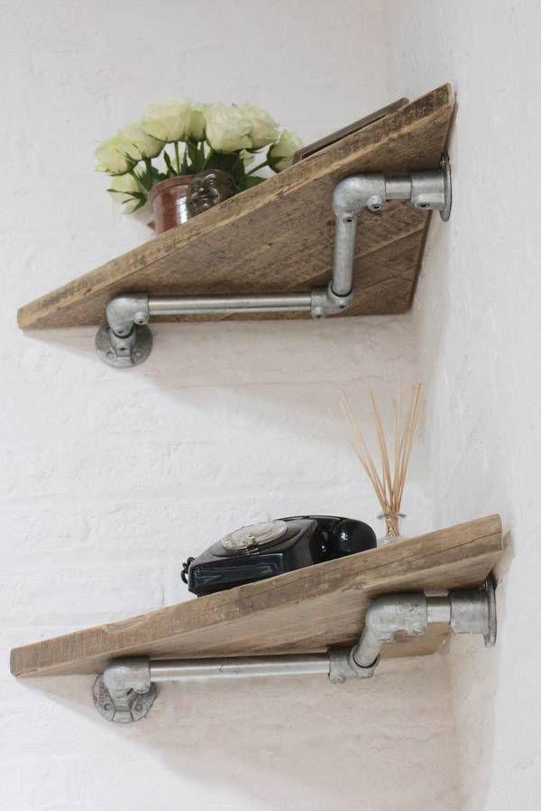 Risultati Immagini Per Reclaimed Wood Shelves