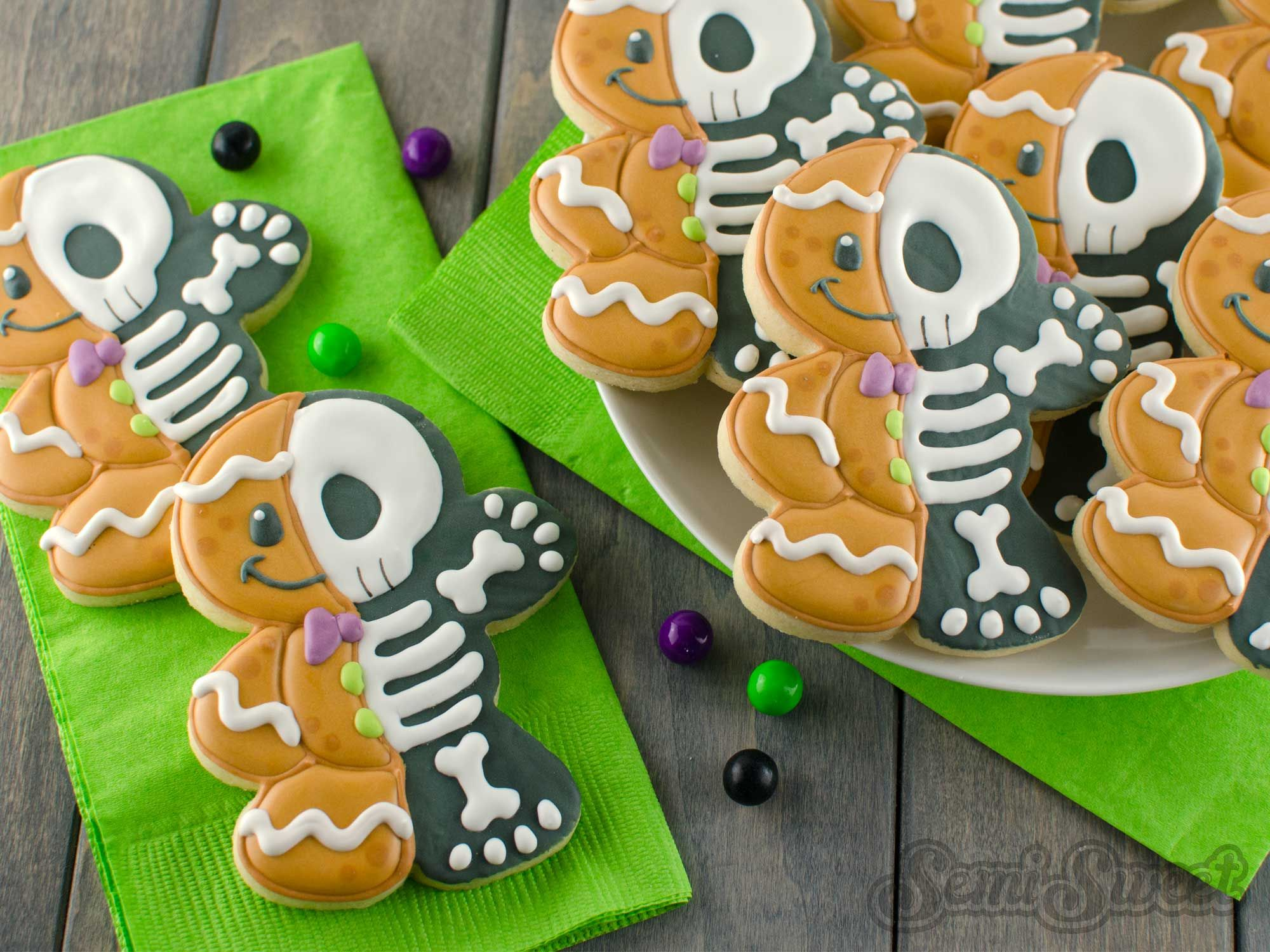 How To Make Gingerbread Man Skeleton Cookies Christmas Everything