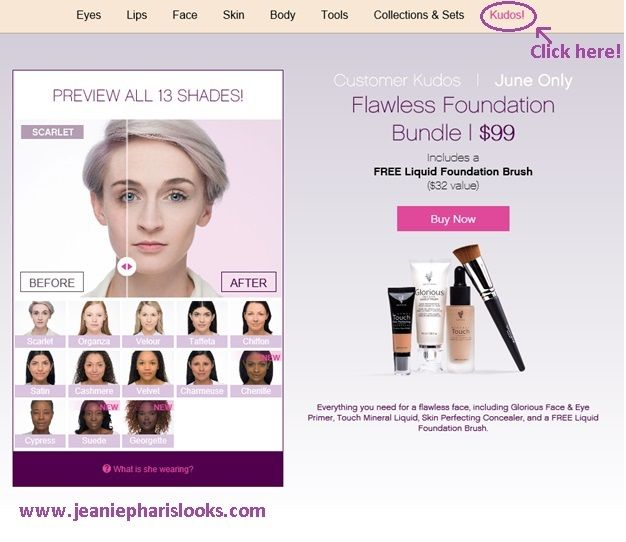 Younique June Kudos!  Awesome deal!  www.jeaniepharislooks.com