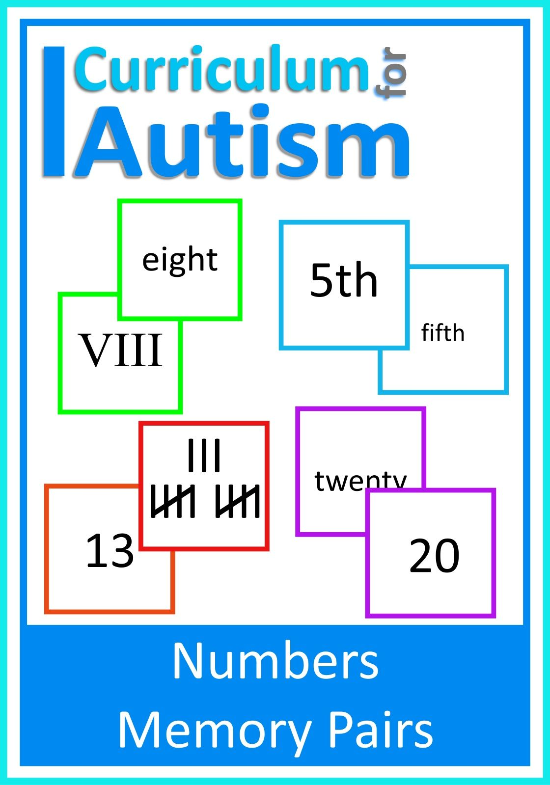 Roman Numerals Tally Marks Ordinal Numbers Memory Pairs