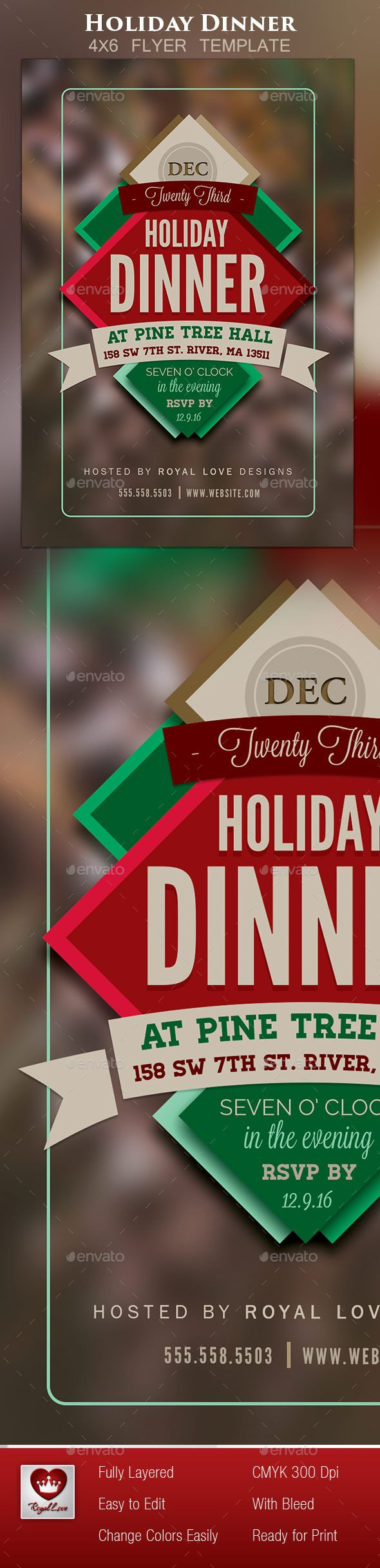 Holiday Dinner Flyer Ii  Dinners Template And Holidays