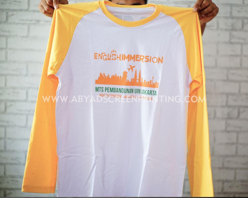 Kaos Oversize Warna Putih Dengan Lengan Warna Kuning Kaos Warna Kuning
