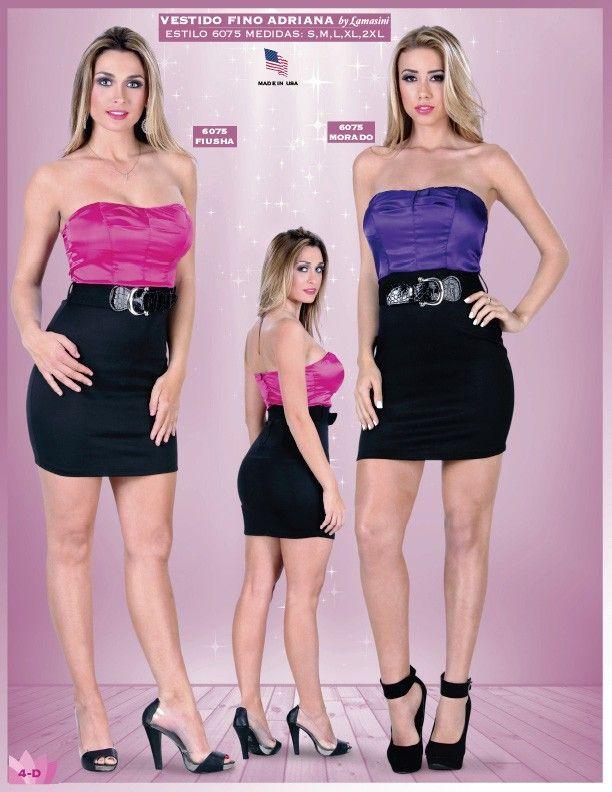 Vestido Lamasini 6075 dama, corto, entallado, hombros destapados ...