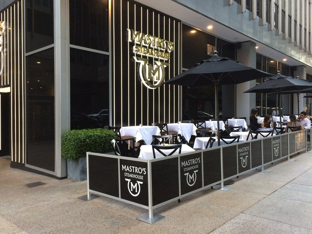 Modern Outdoor Cafe Barriers At Mastro S Steakhouse In New York