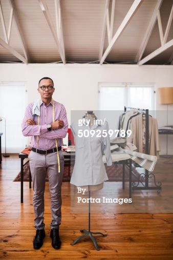 Stock Photo : Design professional by mannequin at studio