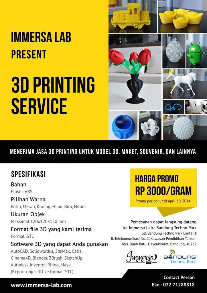 Jasa Print 3 Dimensi | 3d | 3d printing service, Printing