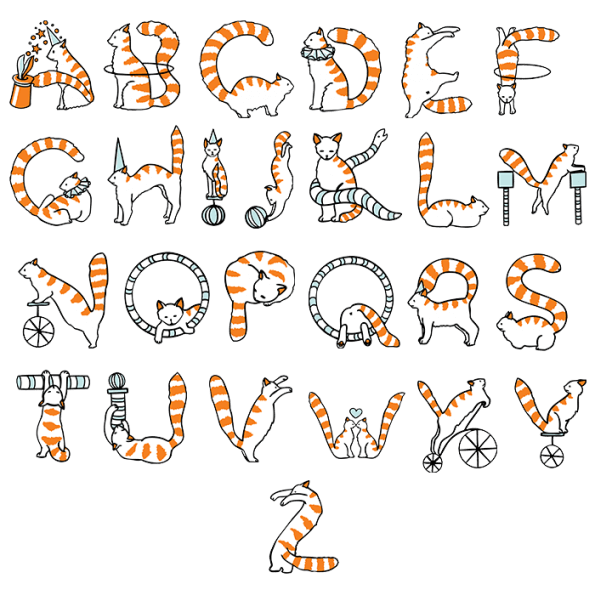 Buy Circus Cats Font And Watch Great Animal Typography Show Hand Lettering Alphabet Lettering Alphabet Alphabet Design