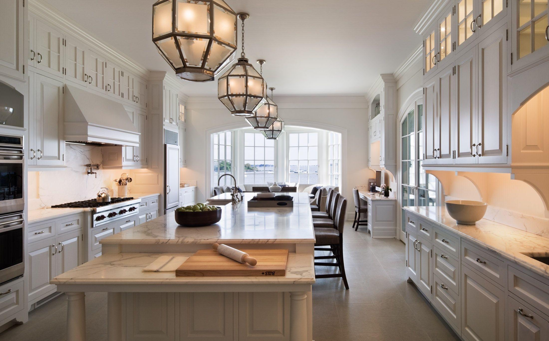Chairish Classic White Kitchen Home Kitchens Kitchen With Long Island