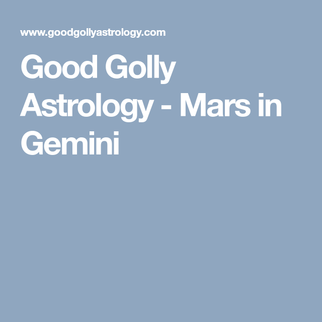 good golly astrology