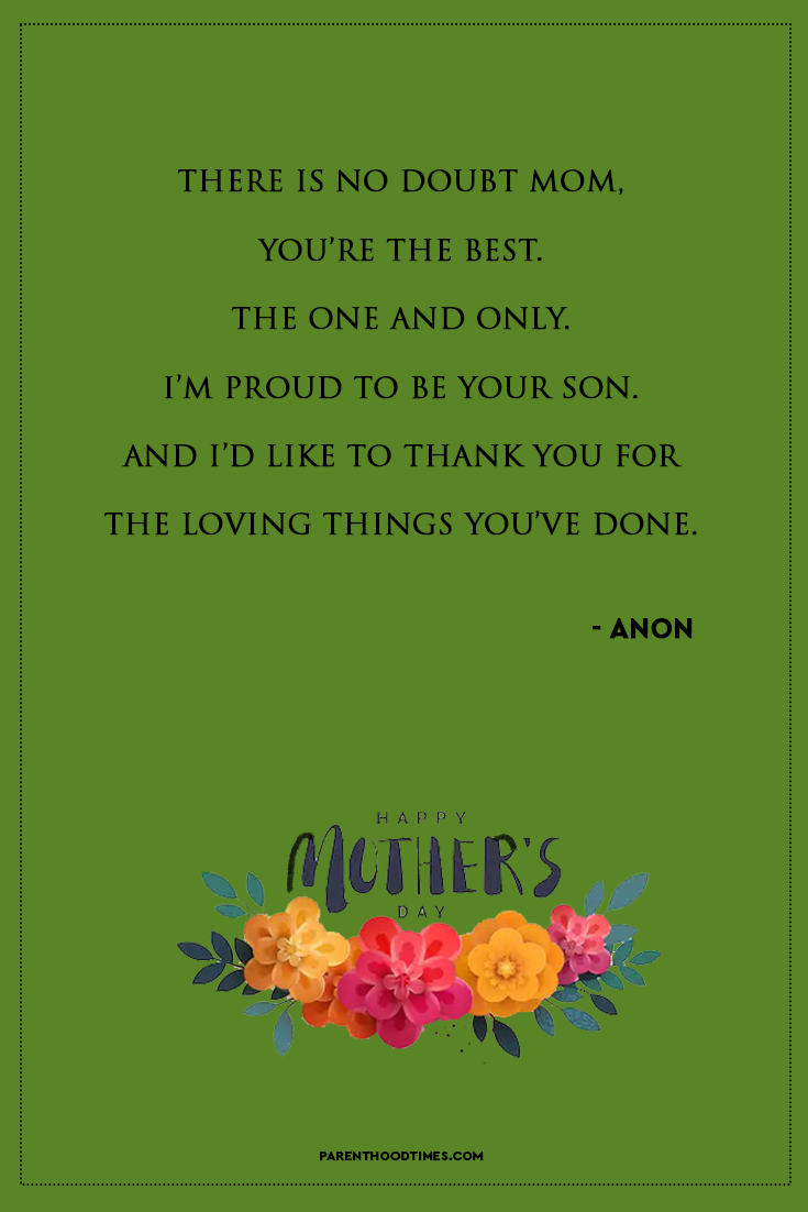 20 Happy Mother S Day Quotes For Mother S Day 2021 Mothers Day Quotes Mothers Day Poems Mother Quotes