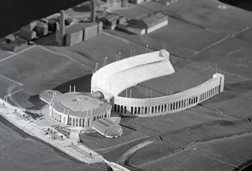 In 1944, Ohio State considered placing SJA directly in front of Shoe's rotunda