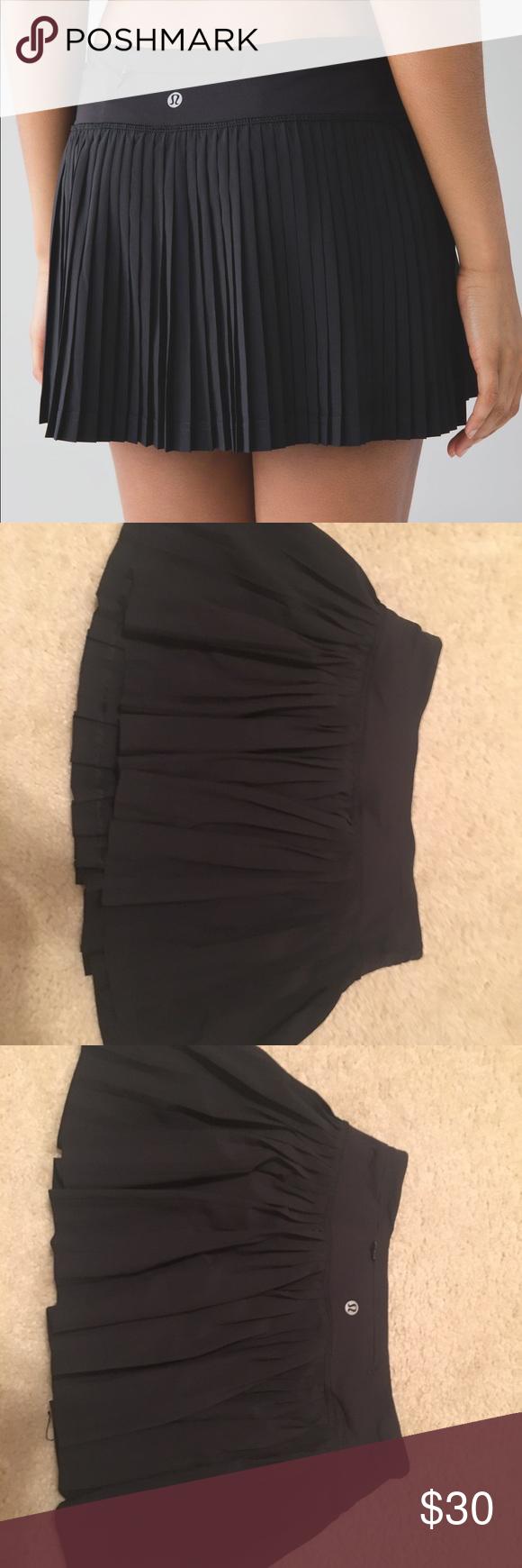 Lululemon skirt black pleated skirt lululemon and shorts