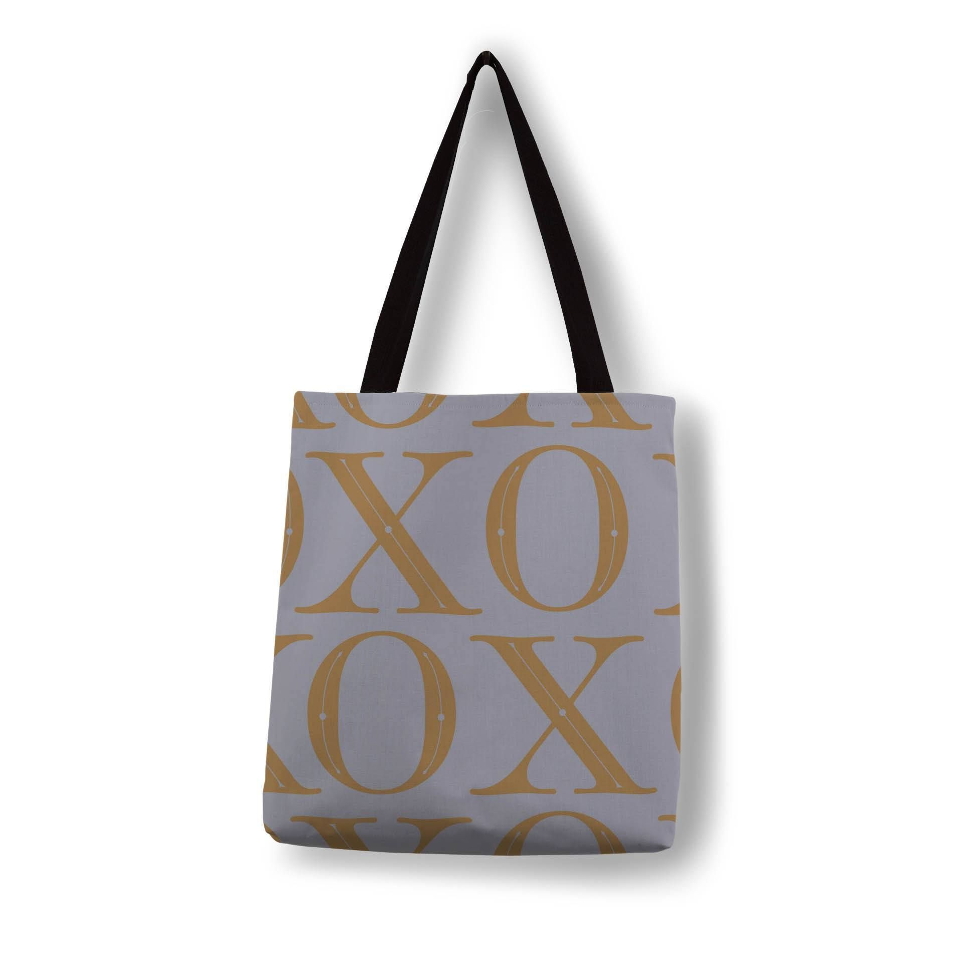 Tailored XO Pattern-Gold on Light Grey