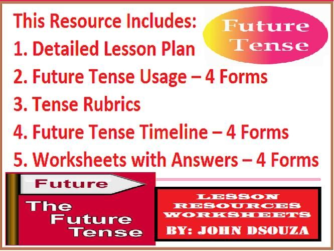 TENSES - FUTURE MY EDMODO RESOURCES Pinterest Verb forms - lesson plan objectives