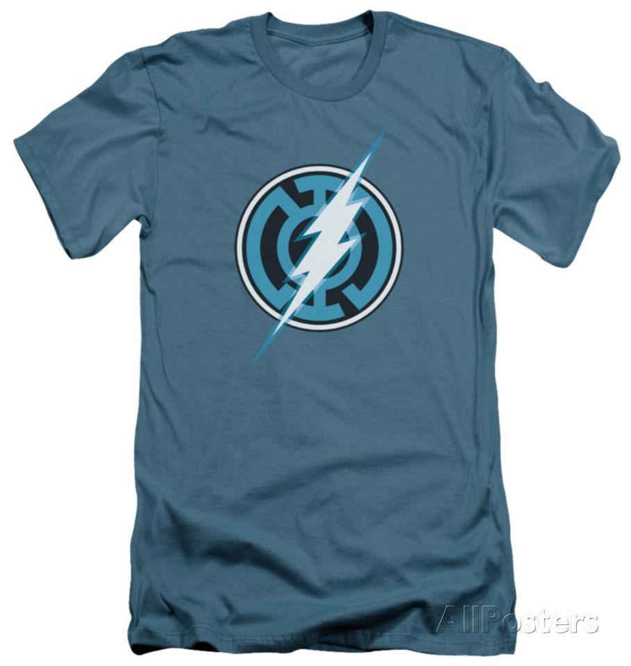 Green Lantern - Blue Lantern Flash (slim fit) T-Shirt at AllPosters.com