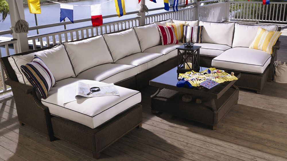 Amazing Comfy Wicker Outdoor Sectional Set From Lloyd Flanders. Available At  Oregonu0027s Largest Patio Furniture Showroom