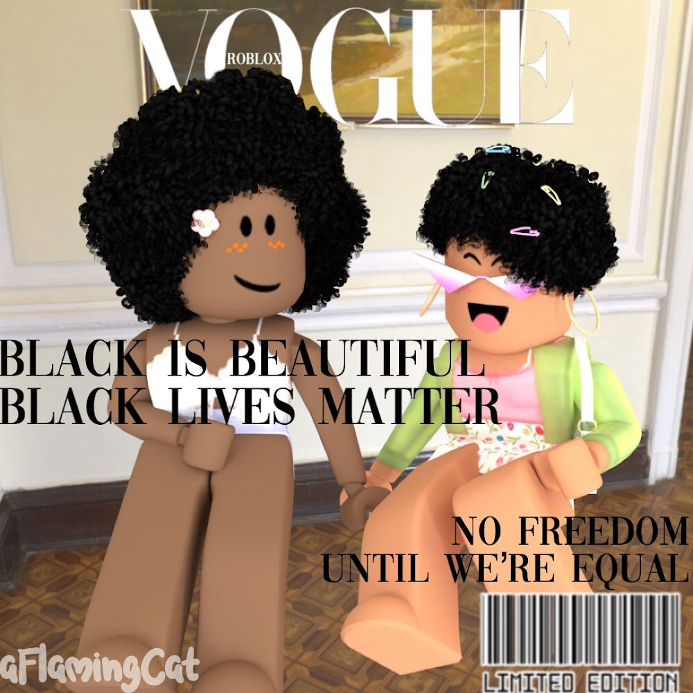 Gfx Black Is Beautiful In 2020 Black Girls Pictures Roblox Animation Black Girl Aesthetic