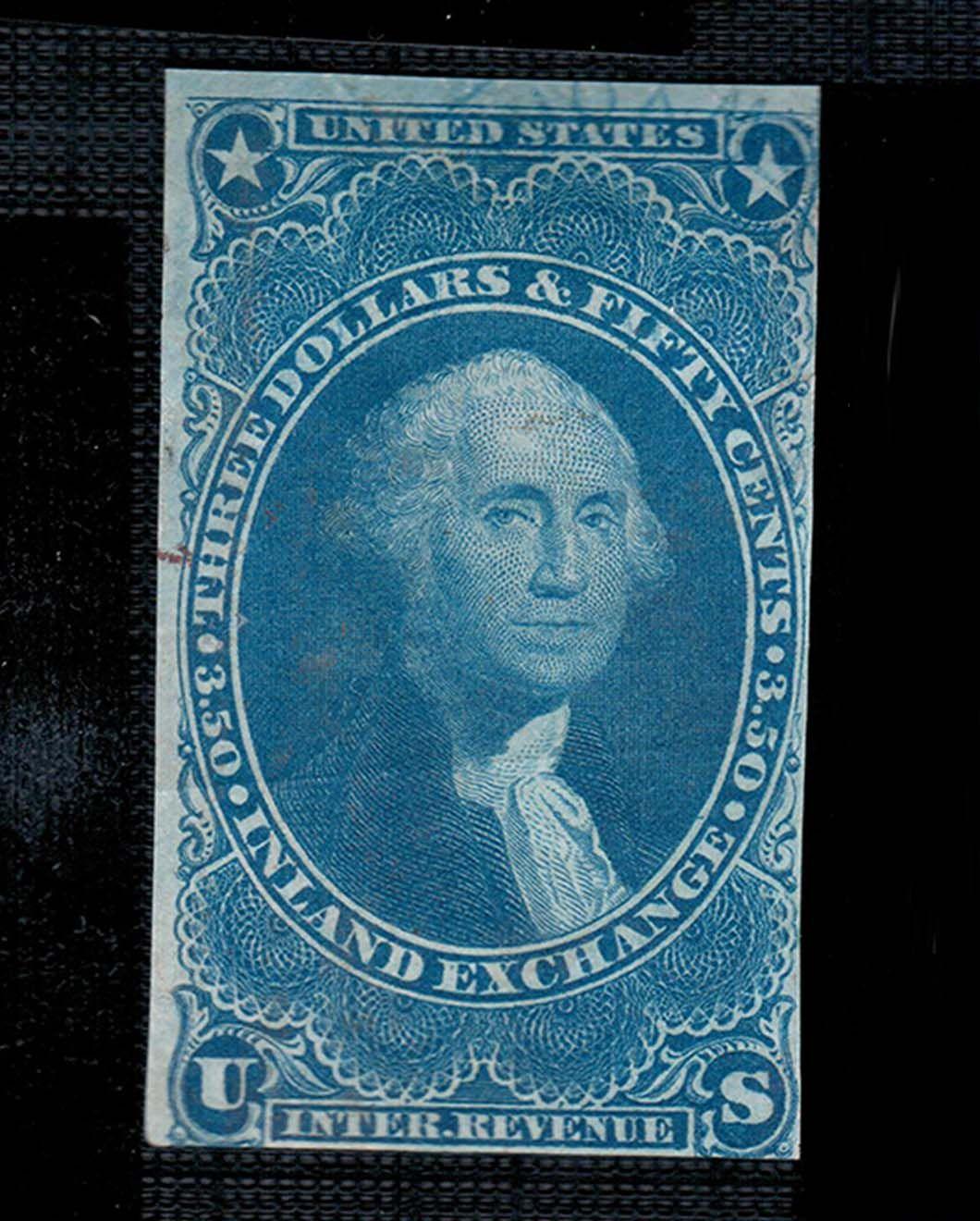 2,250.00 ♛[75 OFF] US Stamp 1862 Scott R87a CV 9,000.00