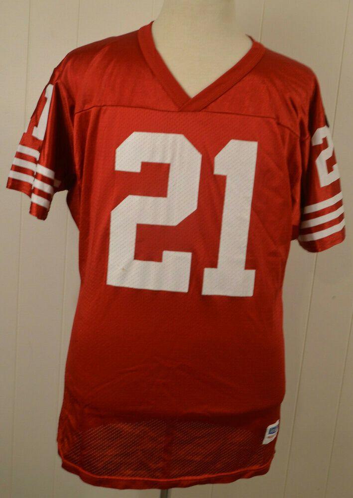 07fc57c31 Details about Vintage Deion Sanders San Francisco 49ers  21 Wilson NFL  Jersey XL