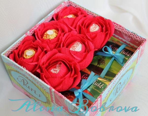 Цветы в коробке своими руками, 3 идеи 57