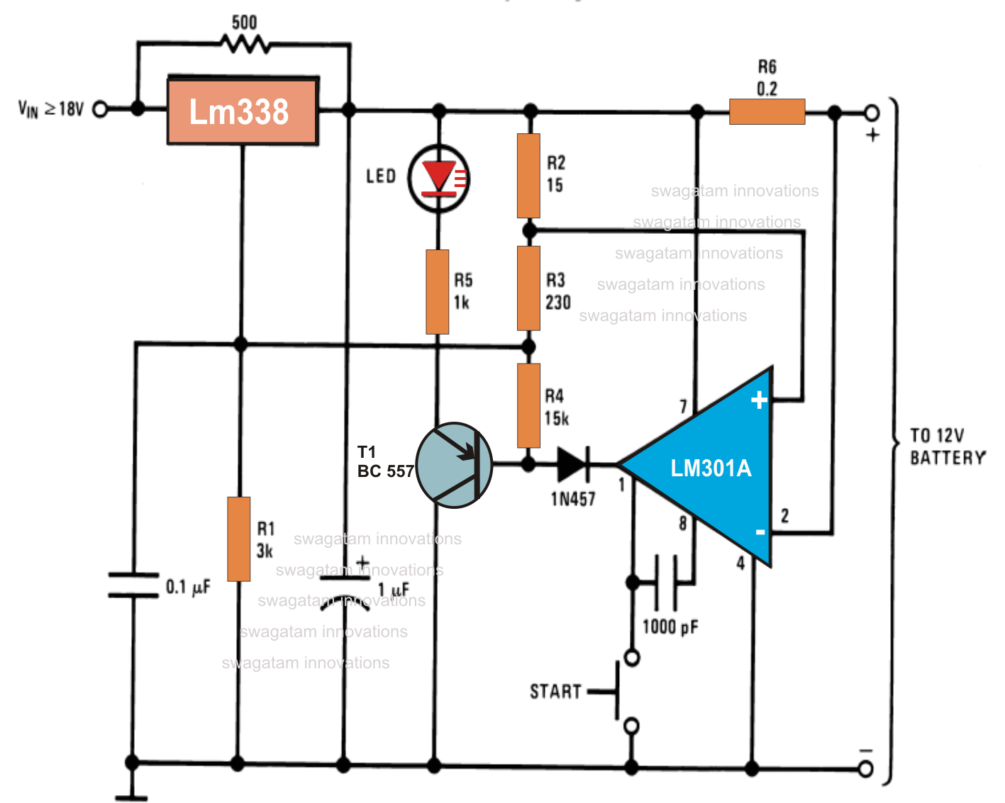 The Ic Lm338 Is An Outstanding Device Which Can Be Used For Circuit Diagram Of 6v Battery Charger Unlimited Number Potential Electronic Applications Here We Use It To Make Automatic 12v