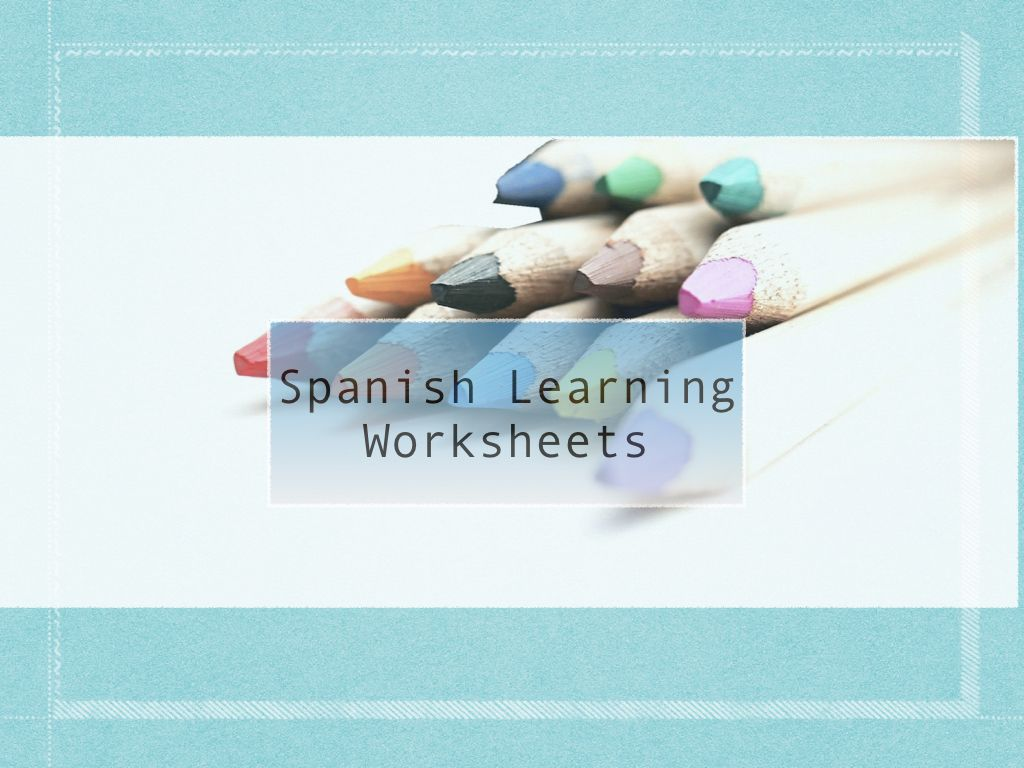 Pin By Spanish4kiddos Educational Services On Spanish