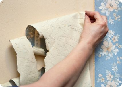 Easy Peeling Affordable Natural Wallpaper Removal