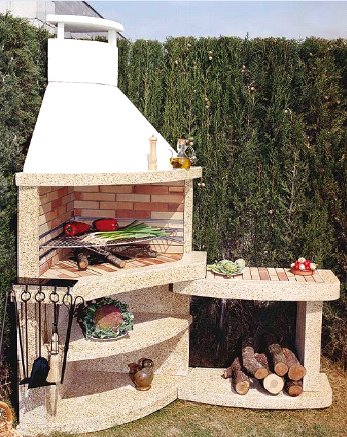 Barbacoa obra esquina buscar con google barbacoa backyard patio y kitchen - Barbacoas de obra rusticas ...