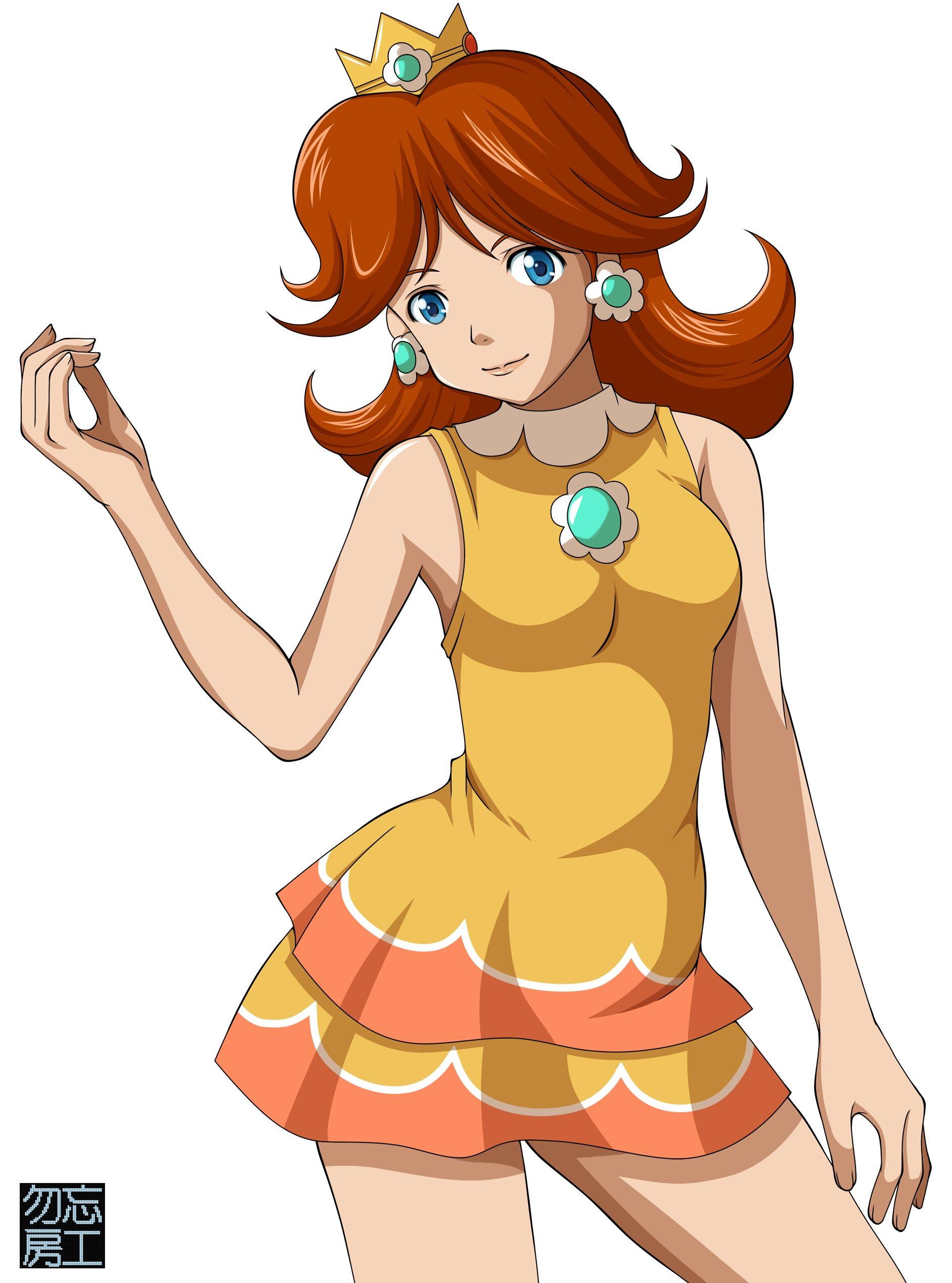 Daisy via pixiv Super mario bros, Super mario, Mario bros