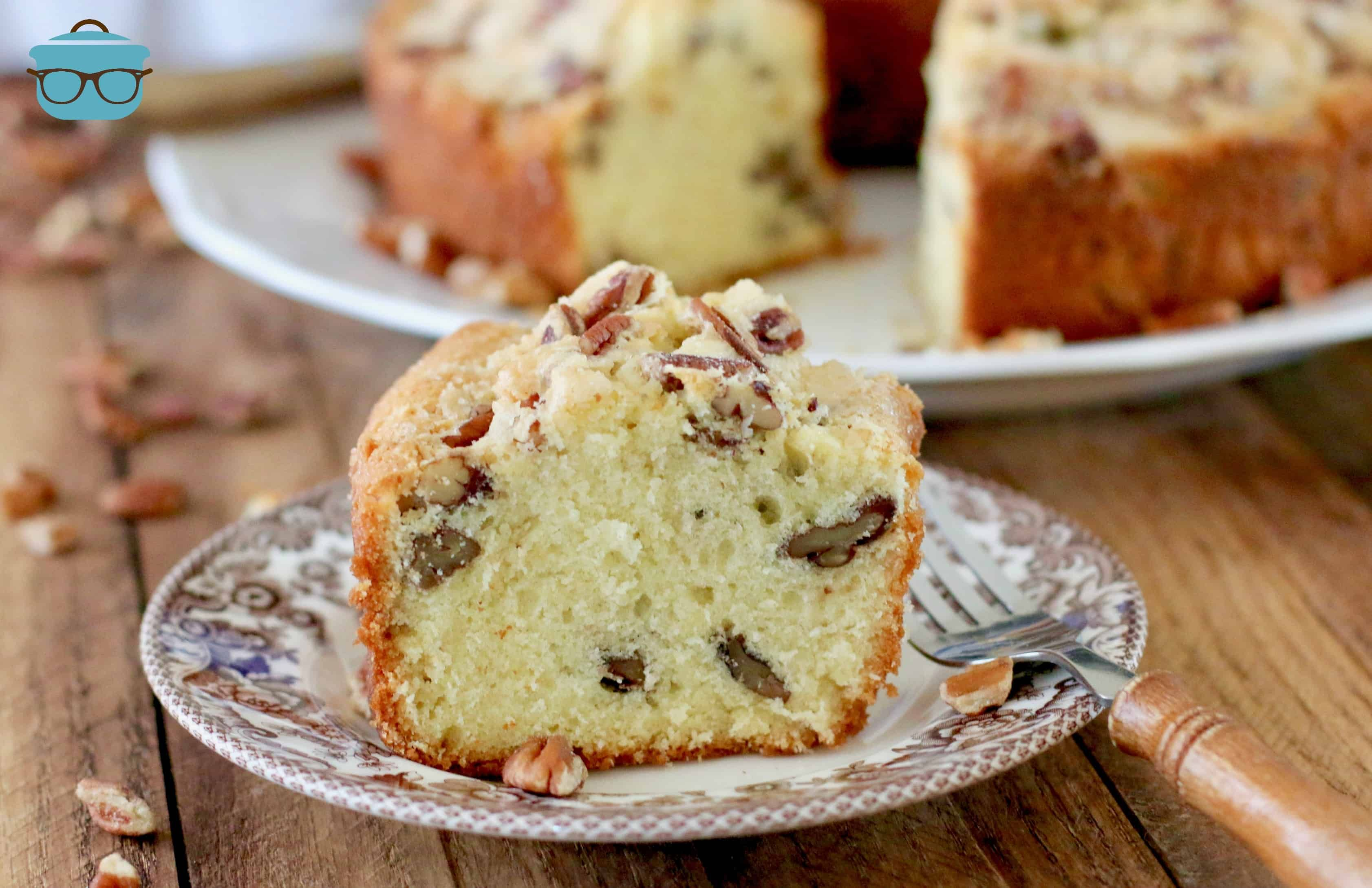 Southern pecan pound cake #pralinecake