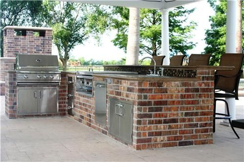 Outdoor Kitchen, Outdoor Bar Texas Landscaping Lightfoot Landscapes, Inc.  Houston, ...