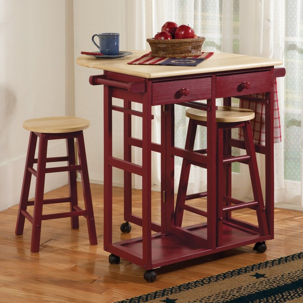 Kitchen Cart Table With Stools Kitchen Cart Country Style Kitchen Kitchen Island Plans