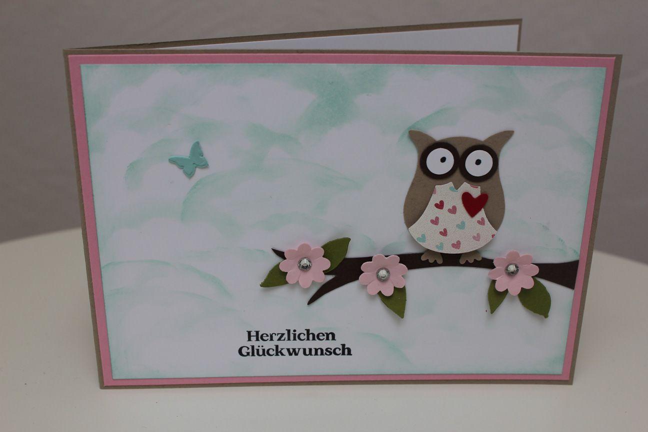 Geburtstagskarte mit der eule stampin 39 up my style for Pinterest geburtstagskarte