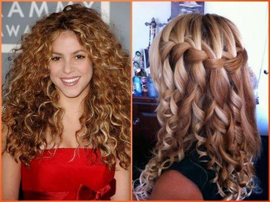 Frisuren schulterlanges lockiges haar