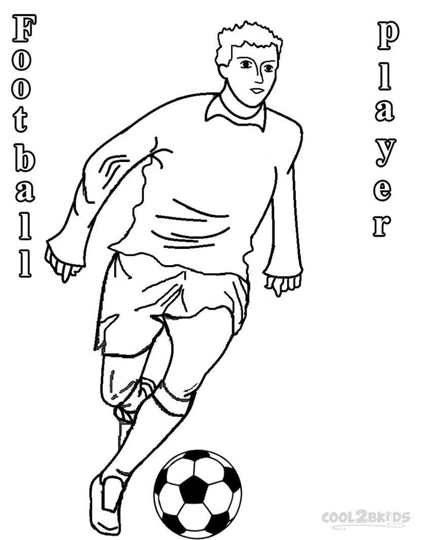 Football Player Coloring Pages Awesome Running Football ...