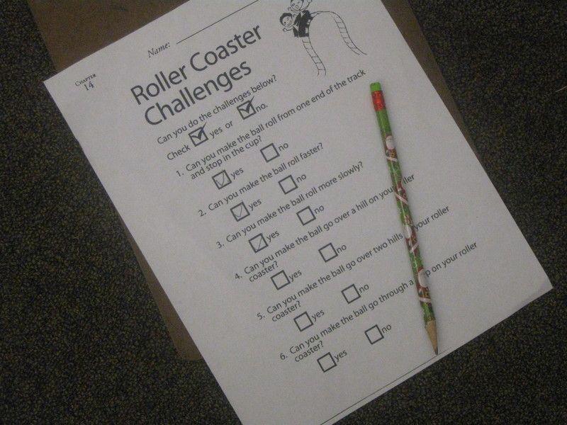 Roller Coaster Challenge Worksheet Roller Coaster Pbl Pinterest