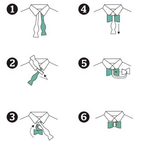 Fliegen Binden In 6 Schritten Krawattenknoten Fliege Binden Mode
