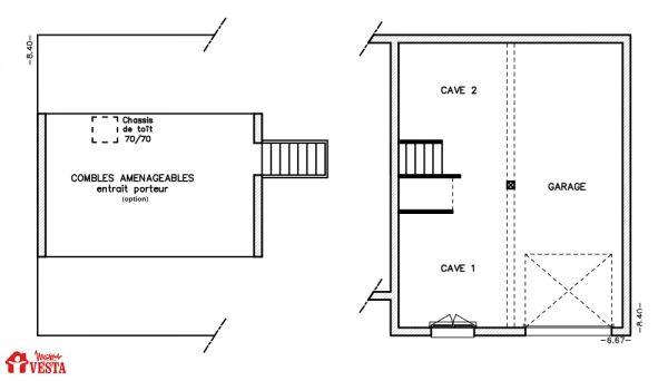 Maisons VESTA  Modèle Margarita (demi-niveau) F5 Surface  90m² +